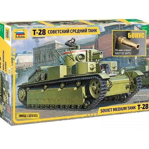 Советский средний танк Т-28 - Звезда 3694 1/35 + БОНУС точеный ствол