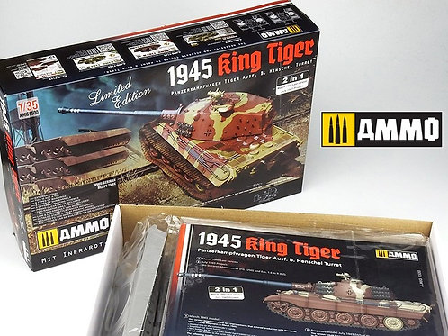 King Tiger Henschel 1945, 2в1 Limited Edition - Ammo Mig 8500 1:35 под заказ