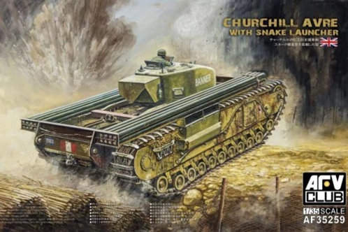 Churchill AVRE with Snake Launcher - AFV Club 1:35 AF35259