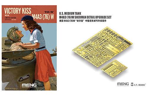 3в1 Шерман M4A3 (76)W +Victory Kiss +травление - MENG ES-006 1/35