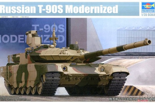 Российский танк Т-90МС мод. 2011, Нижний Тагил - Trumpeter 05549 1:35