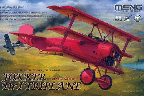 (под заказ) Немецкий самолет Fokker Dr.I Triplane - Meng Model 1:32 QS-002