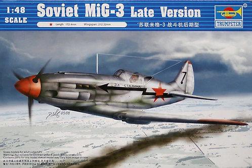 (под заказ) Советский самолет МиГ-3 поздних выпусков - Trumpeter 1:48 02831