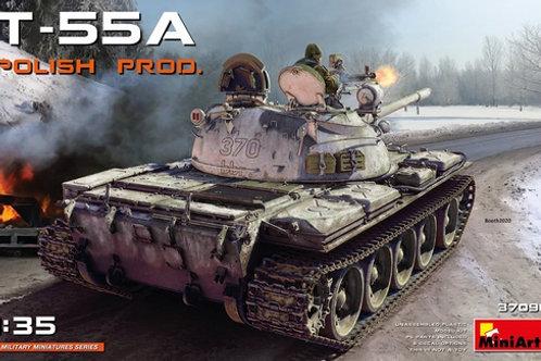 (под заказ) Т-55А производства Польши, без интерьера - MiniArt 1:35 37090