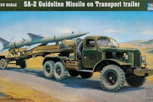 (п/заказ) Машина Т3М ПР-11А с зенитной ракетой С-75 Двина - Trumpeter 00204 1:35