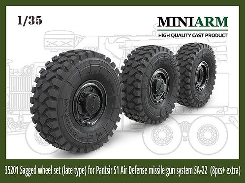 MINIARM B35201 ЗРПК Панцирь С1, колеса с просадкой поздние, 8 шт+запаска (MENG)