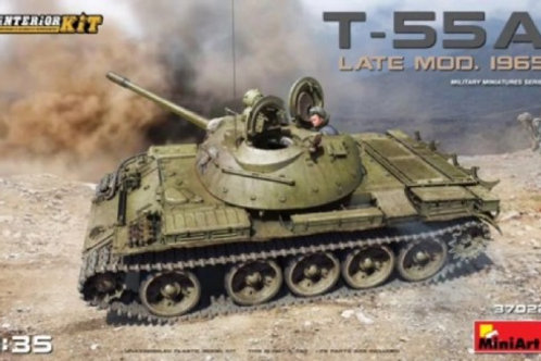 Советский танк Т-55А поздний, мод. 1965 года, с интерьером - MiniArt 37022 1/35