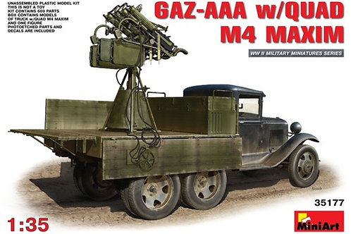 Грузовик ГАЗ-ААА с зенитной пулеметной установкой М4 Максим - MiniArt 35177 1/35