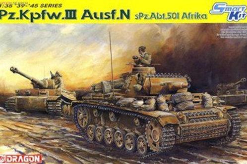 Pz.Kpfw.III Ausf.N sPz.Abt.501 Afrika - Dragon 6431 1:35