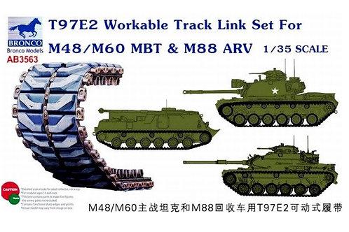 Рабочие траки (пластик) T97E2 для M48 Паттон, M60, M88 - Bronco AB3563 1/35