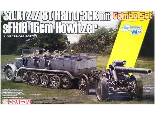 Тягач Sd.Kfz.7 + гаубица sFH 18 с передком - Dragon 6918 1/35
