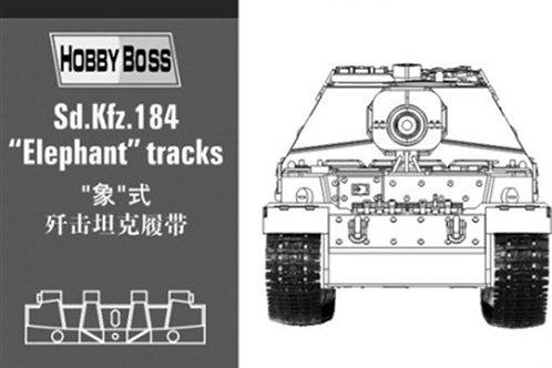 (п/заказ) 81006 Наборные траки Элефант Elephant (пластик) - Hobby Boss 1/35