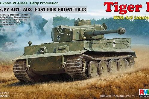 (под заказ) Tiger I интерьерный, 1943, 503 ТТБ - Rye Field Model RM-5003 1:35