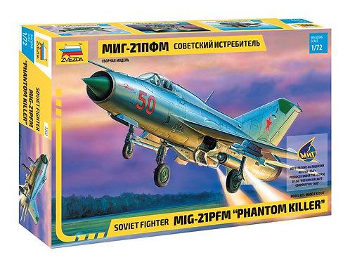Советский истребитель МиГ-21ПФМ (ограниченный выпуск) - Звезда 7202 1/72