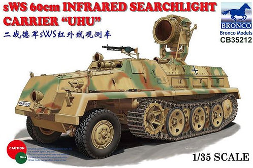 "Немецкий тягач sWS 60cm Infrared Searchlight Carrier ""UHU"" - Bronco 1:35 CB35212"