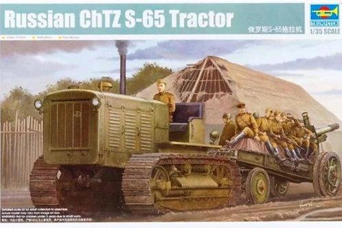"""Советский трактор ЧТЗ-65 """"Сталинец"""" (без кабины) - 05538 Trumpeter 1/35"""
