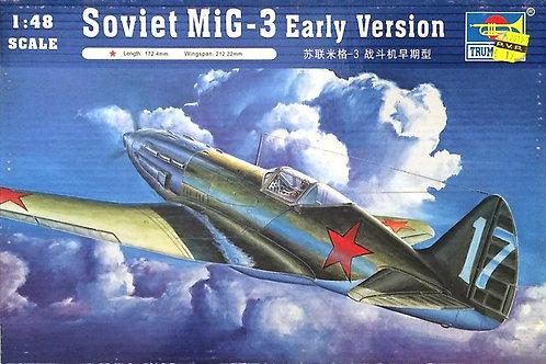 (под заказ) Самолет МиГ-3 ранних выпусков - Trumpeter 1:48 02830