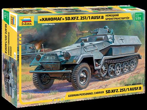 "3572 Звезда 1:35 Немецкий бронетранспортер ""Ханомаг"" Sd.Kfz 251/1 Ausf.B"