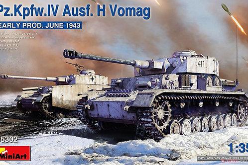 Pz.Kpfw. IV Ausf. H Vomag ранний выпуск, июнь 1943 - MiniArt 1:35 35302