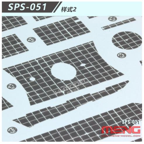 Циммерит №2 в виде декалей Zimmerit Decal Type 2 - Meng Model SPS-051 1/35