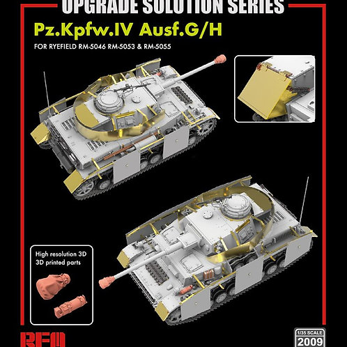 (предзаказ) Набор дополнений Upgrade set for Pz.IV Ausf.G/H - RFM RM-2009 1:35