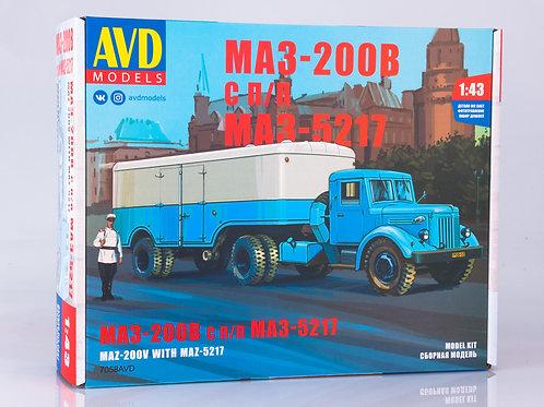 7058AVD Models 1/43 Седельный тягач МАЗ-200В с полуприцепом МАЗ-5217