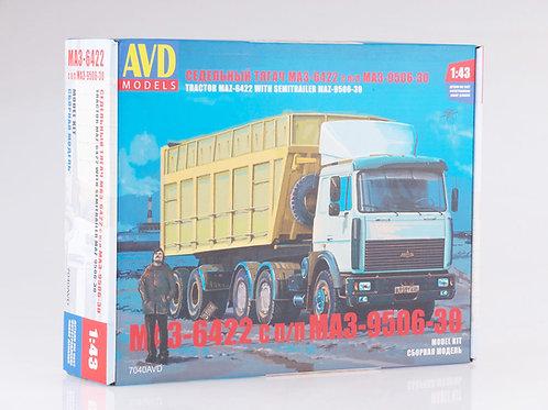 Седельный тягач МАЗ-6422 с полуприцепом МАЗ-9506-30 - AVD Models 7040AVD 1:43