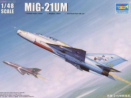 Советский самолет МиГ-21 УМ, MiG-21UM - Trumpeter 1:48 02865