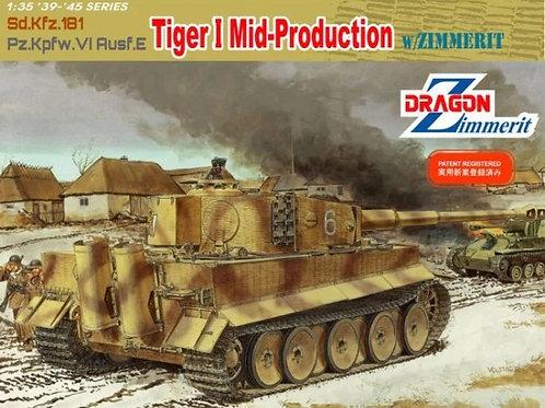(под заказ) Танк Tiger I Mid-Production с циммеритом - Dragon 6700 1:35
