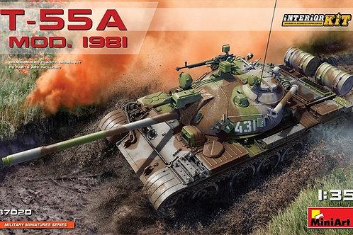Советский танк Т-55А мод. 1981, с полным интерьером - MiniArt 37020 1/35