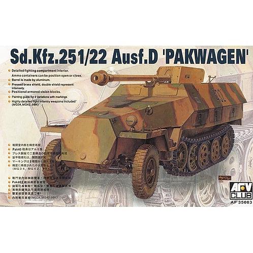 Sd.Kfz.251/22 Ausf. D Pakwagen с 75-мм пушкой - AFV Club 1:35 AF35083