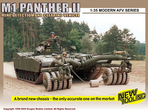 M1 Panther II Mine Detection And Clearing Vehicle - Dragon 1:35 3534