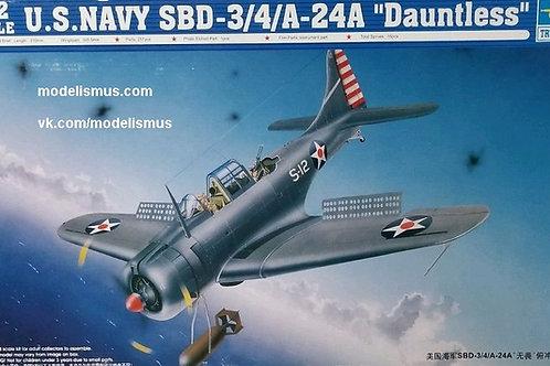 "Самолет U.S. Navy SBD-3/4/A-24A ""Dauntless"" - Trumpeter 1:32 02242"