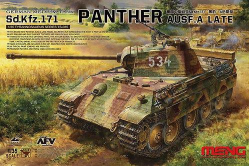 Немецкий танк Пантера А поздняя версия, Panther Ausf. A Late - Meng Model TS-035