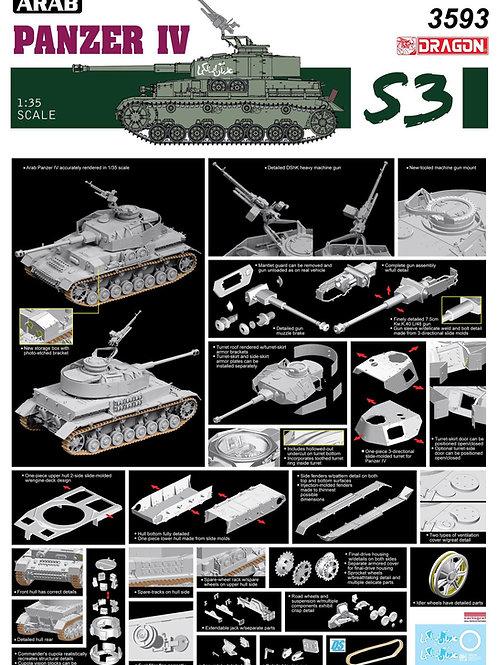 """Arab Pz. IV """"The Six Day War"""" series - Dragon 1:35 3593"""