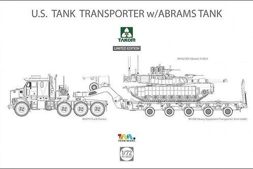 Тягач М1070, полуприцеп M1000 и танк Abrams - Takom 5002X 1/72 - Limited Edition