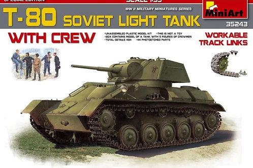 Советский легкий танк Т-80 с экипажем, специальная версия - 35243 MiniArt 1/35