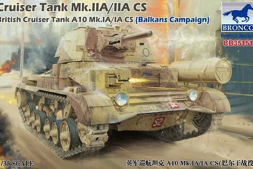 Танк A10 Mk. IA/IA CS / Mk. IIA/IIA CS (Балканы 1940) - Bronco CB35151 1:35