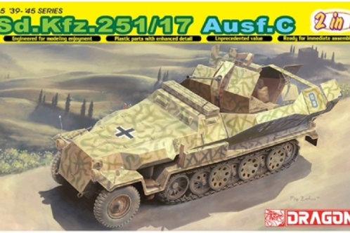 Sd.Kfz. 251/17 Ausf.C / командирский (2 в 1) - Dragon 6592 1:35