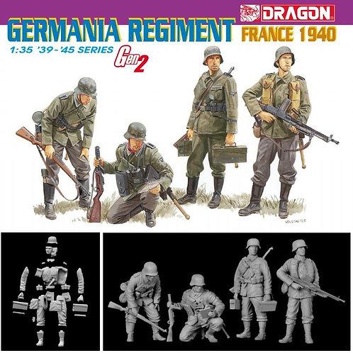 Фигурки Германские пехотинцы, Франция 1940 - Dragon 1:35 6281 + травление, знаки
