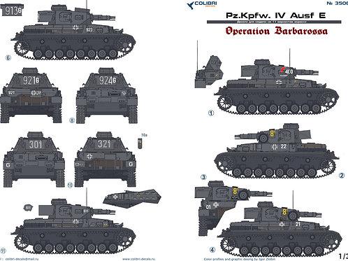 "35064 Colibri Decals 1/35 Декали Pz.Kpfw.IV Ausf.E операция ""Барбаросса"""