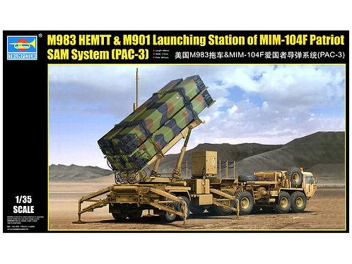 (под заказ) ЗРК Пэтриот с ЗУР PAC-3 и тягачом М983 HEMTT - Trumpeter 01037 1:35