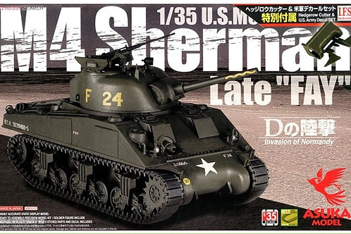 "(под заказ) Поздний Шерман M4 Sherman ""FAY"" - ASUKA Model 1:35 35-032"