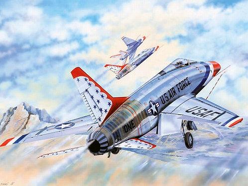 Американский самолет Super Sabre F-100D Thunderbirds - Trumpeter 1:32 03222