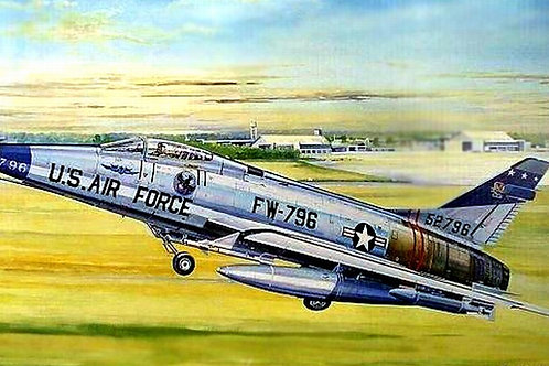 Самолет Супер Сейбр, North American F-100D Super Sabre - Trumpeter 1:32 02232