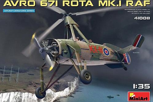 41008 MiniArt 1/35 - Автожир Avro 671 Rota Mk.1 RAF