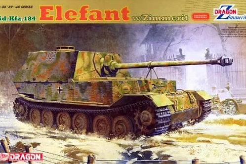 Немецкая Элефант, циммерит, Sd.Kfz.184 Elefant w/Zimmerit - Dragon 1:35 6465