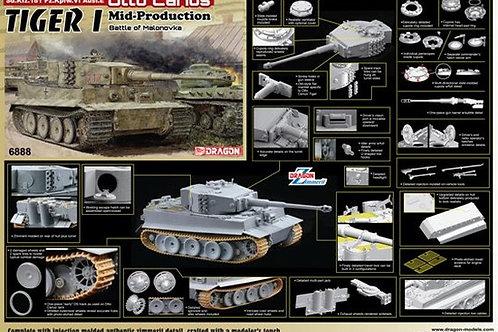 Tiger I Mid-Production Zimmerit Otto Carius 1944 Dragon 6888 1/35 под заказ