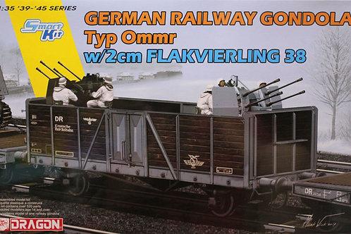 Немецкая платформа Typ Ommr w/2cm Flakvierling 38 - Dragon 1:35 6912 под заказ