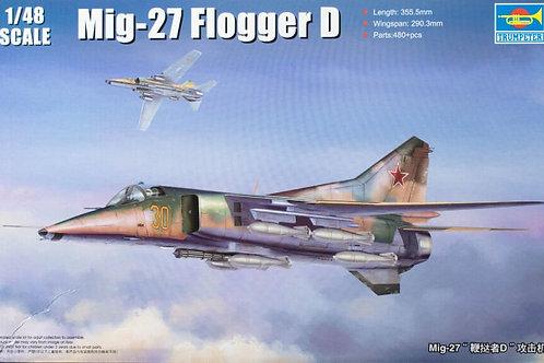 Советский истребитель МиГ-27 Flogger-D - Trumpeter 05802 1/48